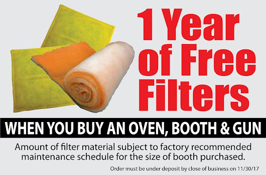 Receive Free Filters for 1 Year! - Reliant Finishing Systems
