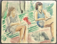 watercolour sketch by dibujandoarte