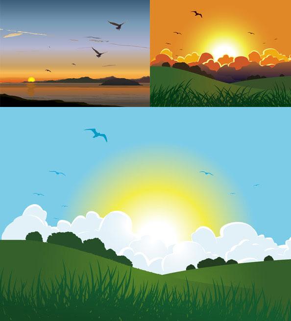 72 Gambar Pemandangan Alam Vektor HD