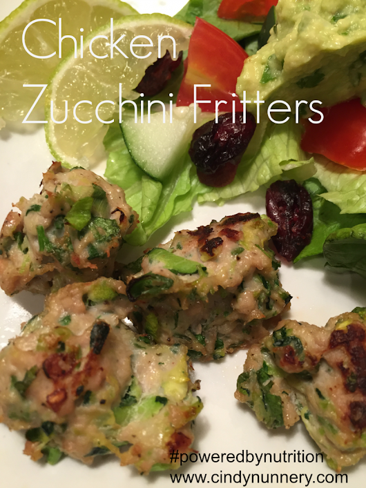 Chicken Zucchini Fritters | Powered by Nutrition™