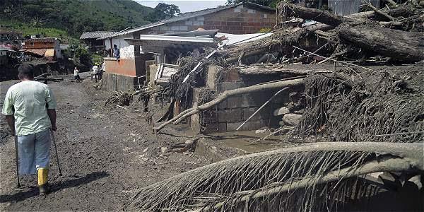 Así es el panorama en Salgar luego de la tragedia.