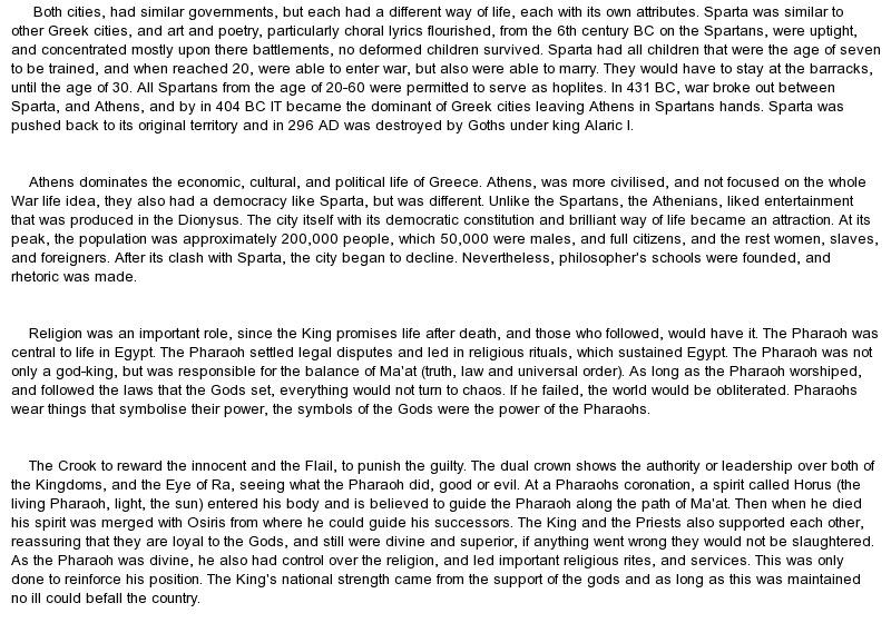 Sparta essay