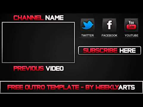 Template #1 - Outro Template - by WeeklyArts - YouTube