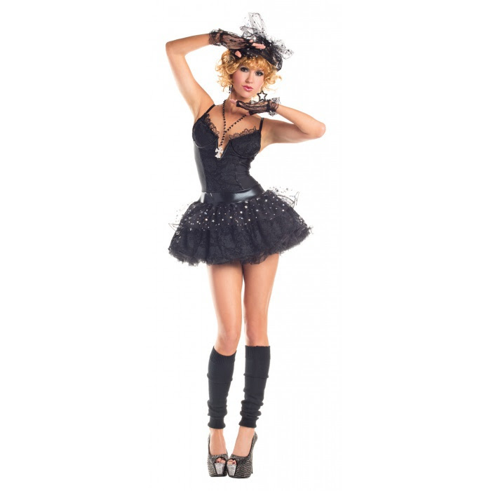 material pop star 80s madonna costume