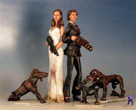 Zombie Dog Fight Wedding Cake Topper ? Garden Ninja Studios