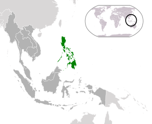 English: Philippines (dark green) / ASEAN (dar...