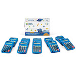 Learning Resources Primary Calculator, Basic Solar Powered Calculators, Teacher Set of 10 Calculators, Ages 3+ - Unlimited Cellular