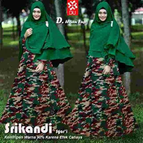 baju gamis modern srikandi army model busana muslim