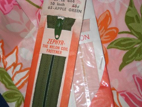 vintage lightning zippers