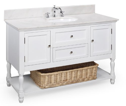 Cheapest Beverly 48 Inch Bathroom Vanity Whitewhite Includes A