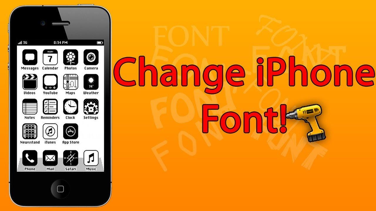 (iOS 7 - 2014) How to CHANGE Font on iPhone - iPad Mini ...