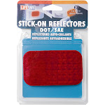 """Incom RE7071 2"""" x 3-1/2"""" Red Stick on Reflector 2-Count"""