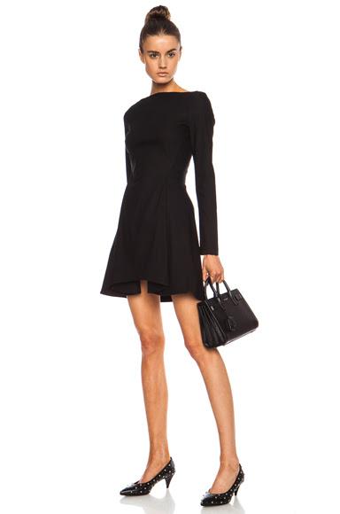 Opening Ceremony|Petra Power Cascade Viscose-Blend Dress in Black [1]