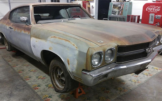 The Most Amazing 1970 Chevelle SS396 Barn Find Ever is Headed to the Russo and Steele Auction - Hot Rod Network