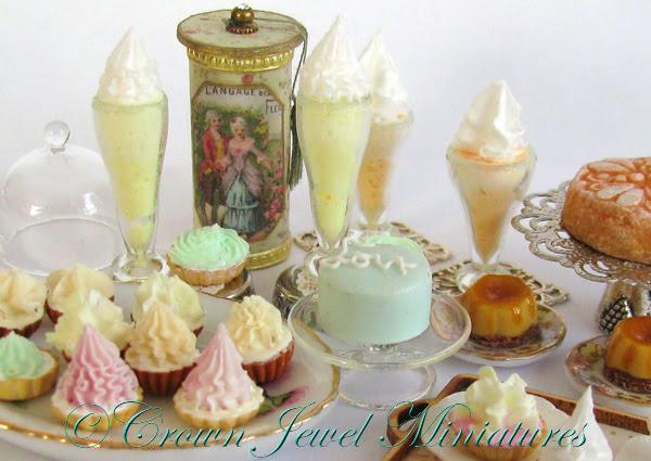 CDHM Artisan Robin Brady-Boxwell of Crown Jewel Miniatures''s Miniatures 1:12 dollhouse miniature Sweets