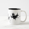 Three Funny Black Crows Two-Tone Coffee Mug