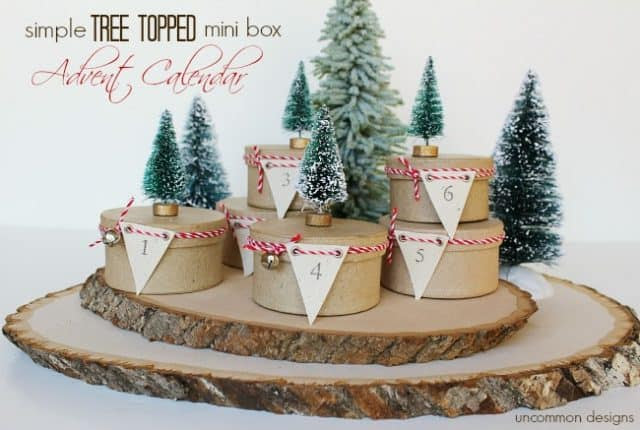 Tree Topped Mini Box Advent Calendar