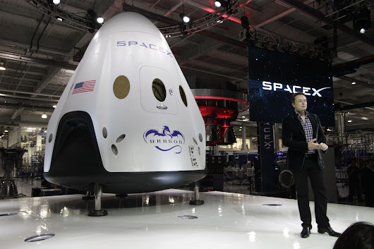 Elon Musk unveils new astronaut-ready spaceship at SpaceX headquarters