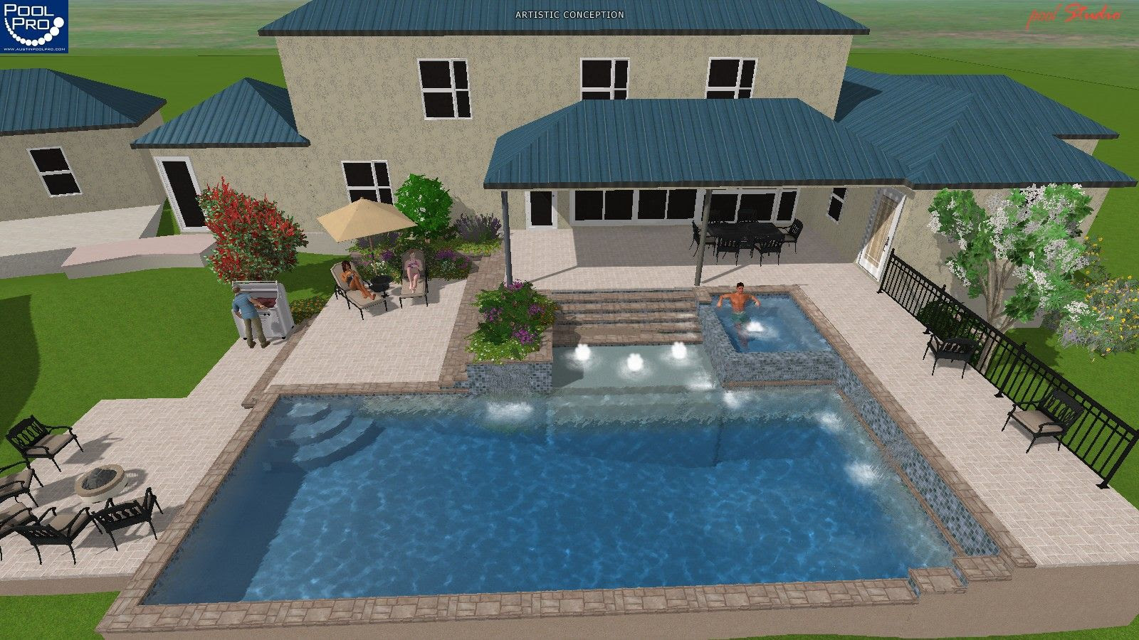 Swimming pool designs and cost country home design ideas for Pool design cost