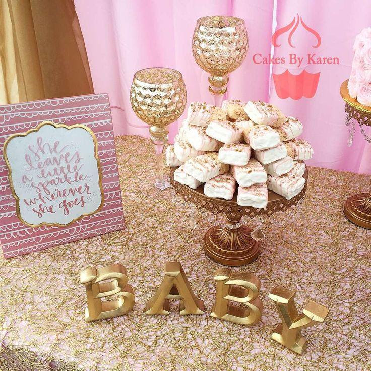 Pink And Gold Baby Shower Baby Shower Party Ideas 2538086 Weddbook
