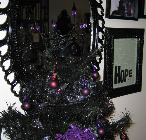 black tree topper