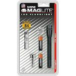 """Maglite Sp32016 Led Mini Flashlight, 2 """"aaa"""", Black"""