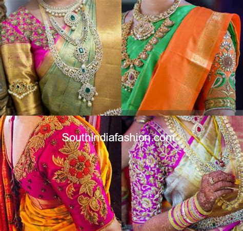 wedding saree blouse designs 600x571 photo   Blouse