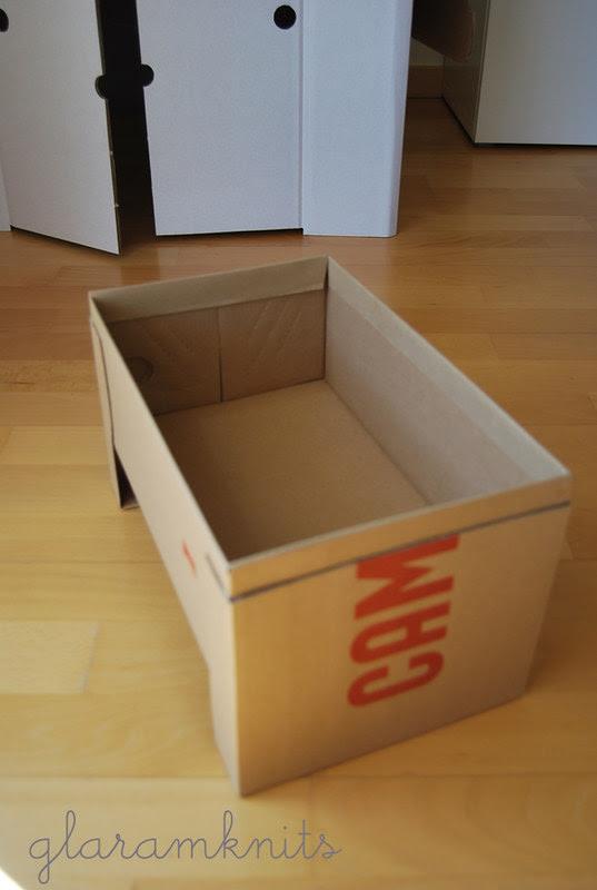 cama cuna muñecas caja cartón zapatos