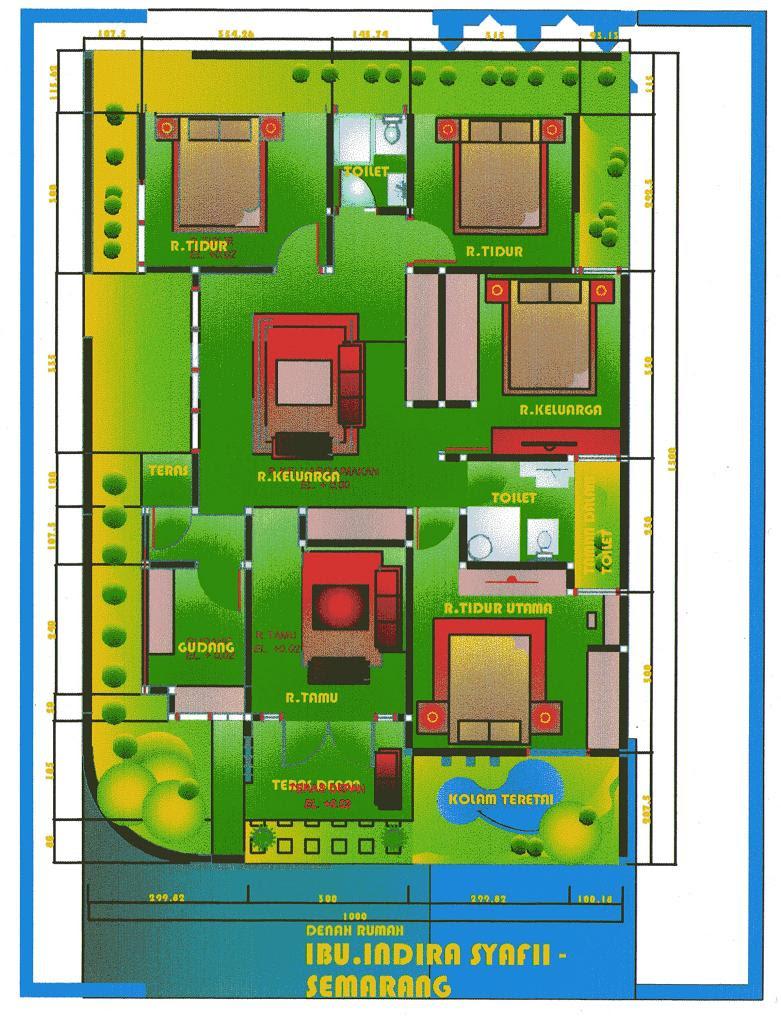 109 Denah Rumah Minimalis Pojok Gambar Desain Rumah Minimalis