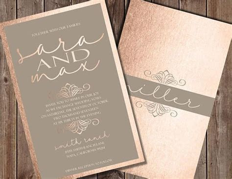 15 best Rose Gold Wedding Invitations images on Pinterest