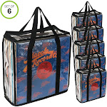 Evelots LP Vinyl Record Carrying Cases Retro Vintage Hold Up to 216 Albums Set/6