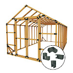 E-Z Frames Structures and Shelters 10x20SS 10 ft. W x 20 ft. D Custom DIY Storage Shed Kit by E-Z Frames, Size: 8 in
