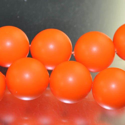 "s33102 Swarovski Pearl - 16 mm Round Pearl (5811) - Neon Orange Pearl (1) - <font color=""#FF0000"">Discontinued</font> - 60% off!"