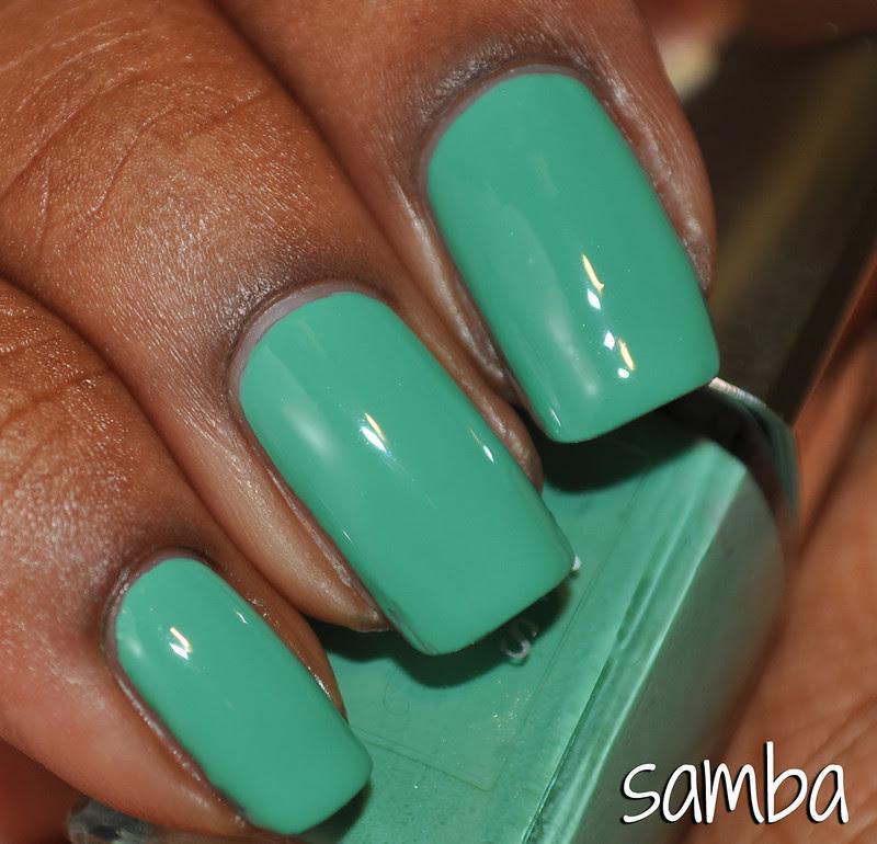 mint green creme dior nail polish samba