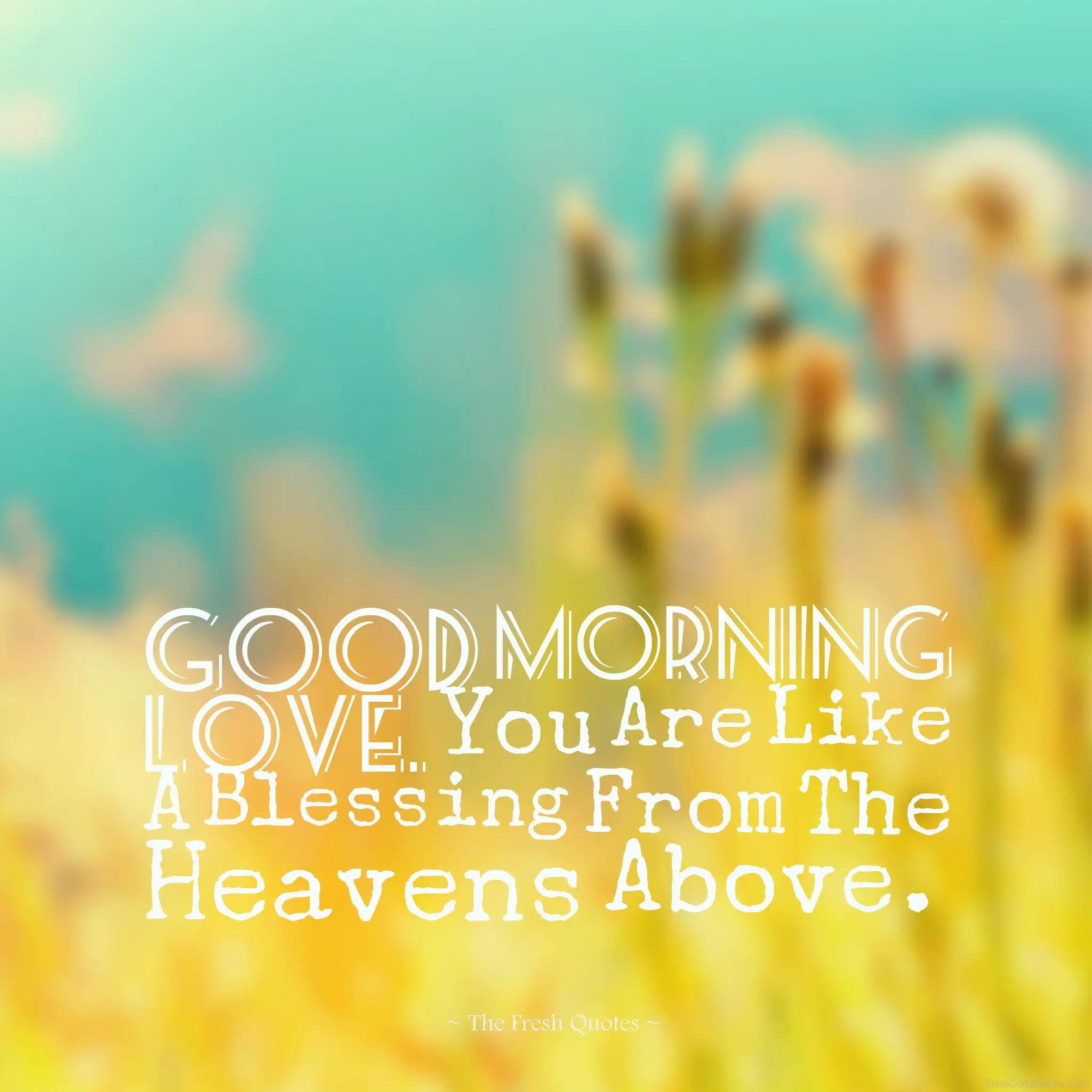 Good Morning Love - DesiComments.com