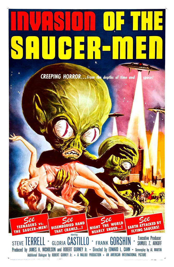 Albert Kallis - Invasion of the Saucer-men (American International, 1957) One Sheet