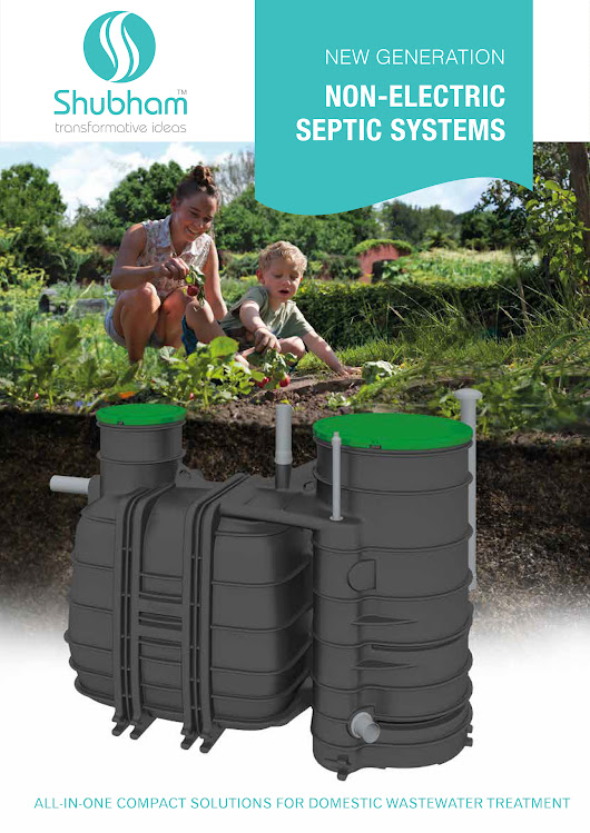 No electricity Septic Systems for domestic applications