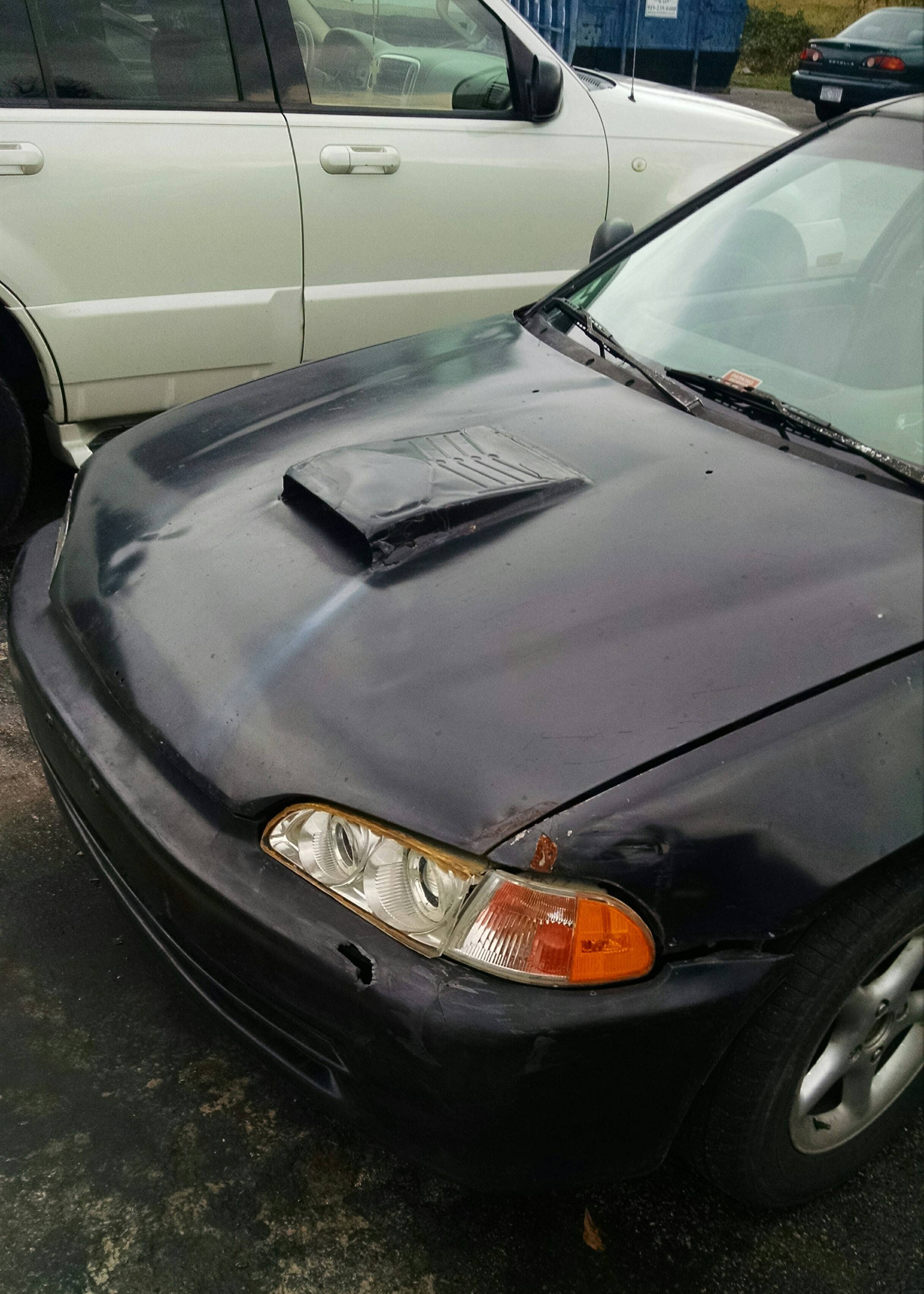 How about a hood scoop from Home Depot Shitty Car Mods