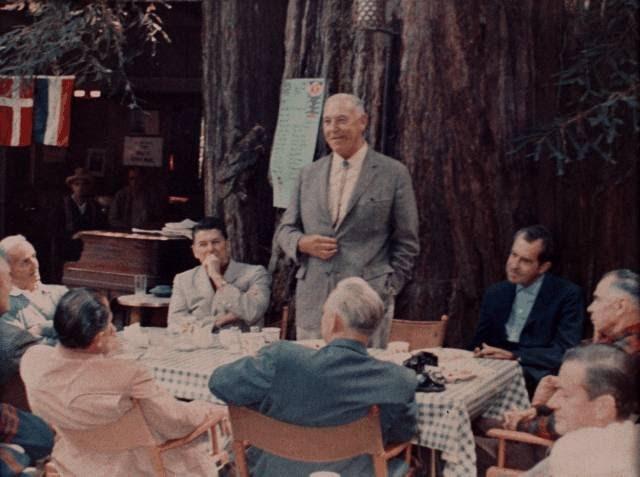 Reagan & Nixon Bohemian Club 23 Juillet 1967