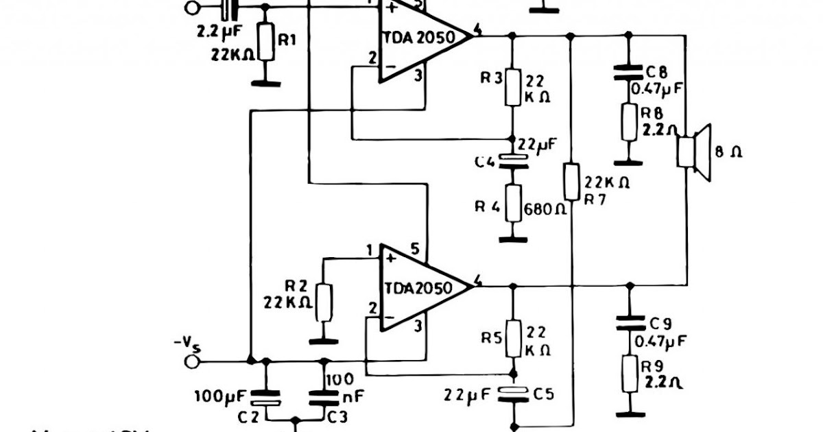 Soft Wiring: Tda 2050 Simple Amp Circuit Bridge