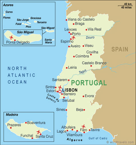 Portugal Cities Best Top Wallpapers - Portugal map of cities