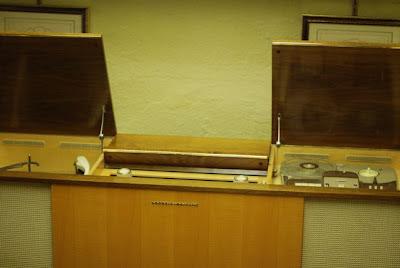 Grundig Majestic stereo in the Norman Petty Recording Studios, Clovis, New Mexico
