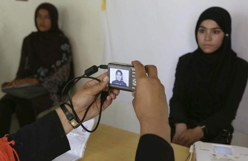 Registrándose para votar en Afganistán