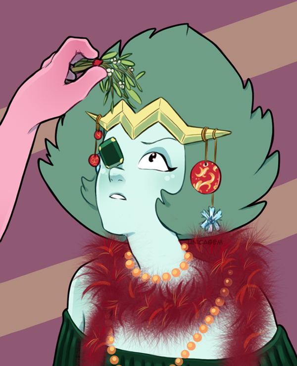 """This is for a Christmas tradition…"" ""Do I have to eat it?"" ""Well, n- yes. Yes, you do."" *and Emerald's First Christmas was remembered for her eating all the mistletoe* Isn't she a perfect Christmas..."