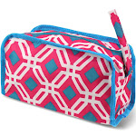 Zodaca Travel Cosmetic Makeup Case Bag Pouch Toiletry Zip Organizer - Pink Graphic