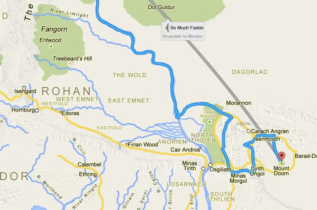 lotr google maps