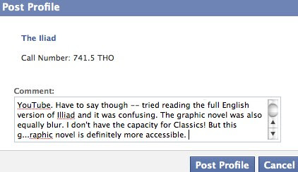 NLB myLibrary on Facebook | Post to profile