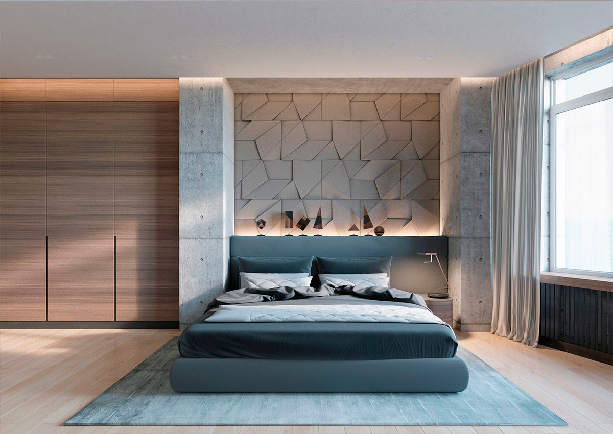 Concrete Wall Designs 30 Striking Bedrooms That Use Concrete Finish