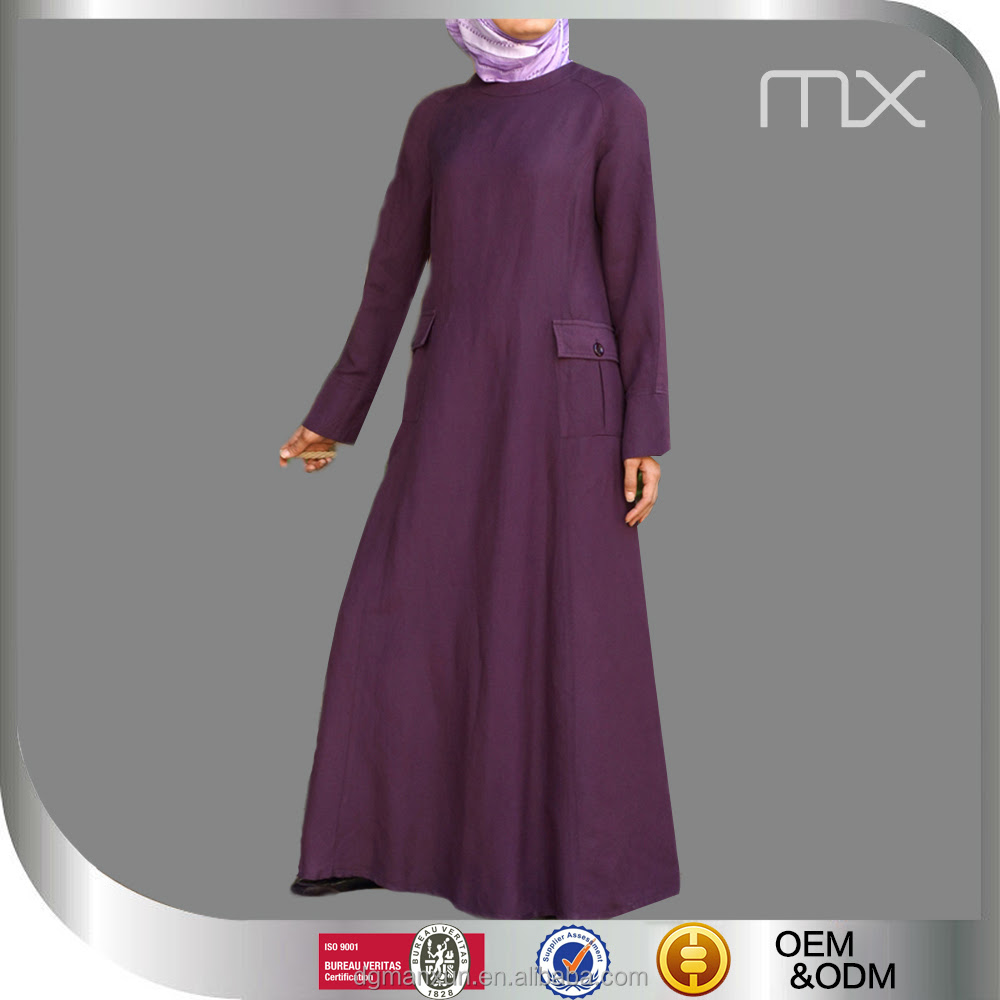 Pretty Baju Model  Muslim Abaya Pocket Simple Islamic Women