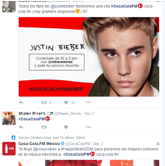 Coca-Cola.fm gets customized Emoji on Twitter for HashTag #CocaColaFM